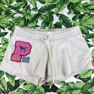 5 for $25 PINK VS White Cut Off Shorts